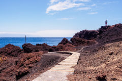 Lighthouse Faro de Punta de Teno Στοκ φωτογραφία με δικαίωμα ελεύθερης χρήσης