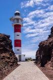 Lighthouse Faro de Punta de Teno Royalty Free Stock Image