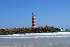 Lighthouse, Faro, Portugal. View of the lighthouse, Faro, Portugal Royalty Free Stock Photos