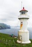 Lighthouse on Faroe islands. Royalty Free Stock Image