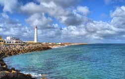 Lighthouse in Farol island royalty free stock photography