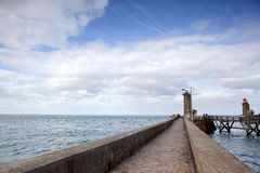 Lighthouse at Fecamp Normandy Stock Photo