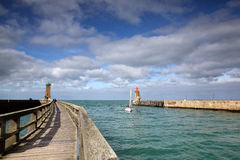 Lighthouse at Fecamp Normandy Stock Images