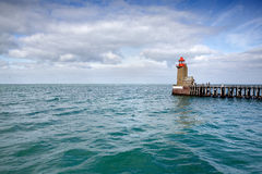 Lighthouse at Fecamp Normandy Royalty Free Stock Image