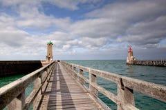 Lighthouse at Fecamp Normandy Stock Photos