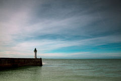 Lighthouse at Fecamp Normandy Royalty Free Stock Images