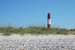 Lighthouse Fehmarn. This image shows the lighthouse of Fluegge located on Fehmarn Stock Photography