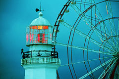 Lighthouse in the night Royalty Free Stock Image