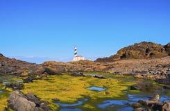 Lighthouse on Fevartix Cape on Minorca Stock Photos