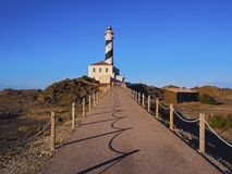 Lighthouse on Fevartix Cape on Minorca Royalty Free Stock Images