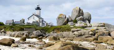 Lighthouse in Finistere Royalty Free Stock Photo
