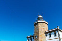 Lighthouse in Finisterre in Galicia Royalty Free Stock Images