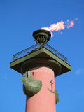 Lighthouse with fire Royalty Free Stock Photo