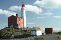 Lighthouse Fisguard Canada BC. Fisgard lighthouse near Victoria, British Columbia Royalty Free Stock Photo