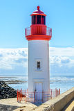 Lighthouse in fishing port La cotiniere, France Stock Photo