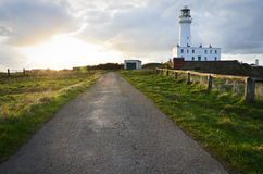 The Lighthouse in Flamborough Royalty Free Stock Photography
