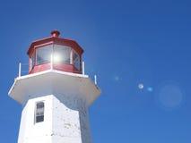 Lighthouse flare Stock Image