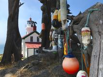 Battery Point Lighthouse floats hanging. stock image