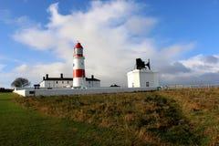 Lighthouse and Fog Horn. Stock Photo