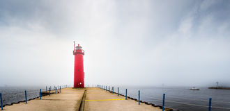Lighthouse in Fog royalty free stock photos