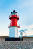 Lighthouse with foghorn and another lighthouse in  Stock Photo