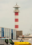Lighthouse foreign seaport of Burgas in Bulgaria Stock Images