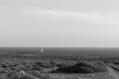 Lighthouse in Formentera. A panoramic view of the famous Lighthouse in Cap de Barbaria, Formentera, Spain Stock Photo