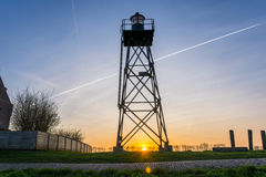 Lighthouse of the former island Schokland, the Netherlands. This was the lighthouse of the island Schokland. Many skippers used this beacon for a save trip to Royalty Free Stock Photography