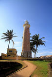 Lighthouse in fort Gale at Sri Lanka seascape. Vertical orientation Stock Photography