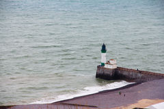 Lighthouse of Fort Mahon Plage Royalty Free Stock Photography