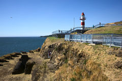 Lighthouse of Fort in Niebla, Chile Stock Image