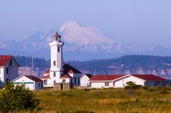 Lighthouse at Fort Worden State Park, Washington stock photos