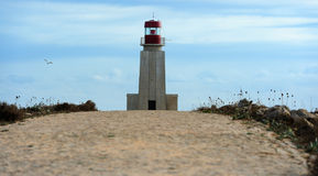 Lighthouse at Fortaleza de Sagres, Portugal Stock Photography