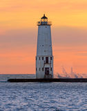 Lighthouse at Frankfort, Michigan Stock Photos