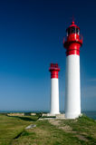 Lighthouse in a French Island (Charente, France, Europe) Stock Images