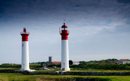 Lighthouse in a French Island (Charente, France, Europe) Stock Photo