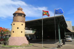 Lighthouse in front of Maurice Bishop International Airport in Grenada Stock Image