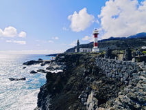 Lighthouse in Fuencaliente on La Palma Royalty Free Stock Photography