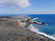 Lighthouse in Fuencaliente on La Palma Stock Image