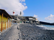 Lighthouse in Fuencaliente on La Palma Royalty Free Stock Images