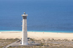 Lighthouse on Fuerteventura Island Royalty Free Stock Photo