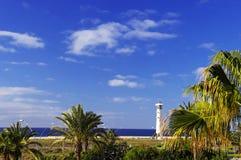 Lighthouse on Fuerteventura stock images