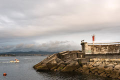 Lighthouse in Galicia Stock Image