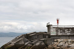 Lighthouse in Galicia Royalty Free Stock Photography