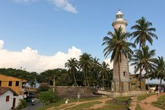 Lighthouse of Galle in Sri Lanka. The lighthouse of Galle in Sri Lanka stock photography