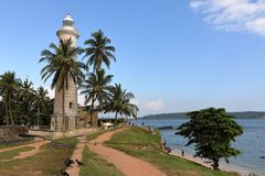 Lighthouse of Galle in Sri Lanka. The lighthouse of Galle in Sri Lanka royalty free stock photos