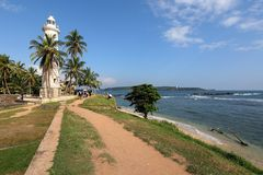 Lighthouse of Galle in Sri Lanka. The lighthouse of Galle in Sri Lanka stock photos