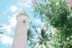 the lighthouse in Galle, Sri Lanka royalty free stock images