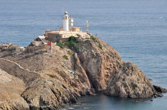Lighthouse of Gata cape, Andalusia, Spain Stock Image