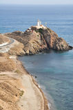 Lighthouse of Gata cape, Andalusia, Spain Stock Photography